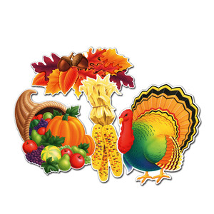 Thanksgiving Cutouts - Pack of 4 (4 seperate Designs)