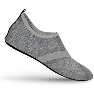 FitKicks Women's Foldable Active Lifestyle Footwear Shoes Large Grey