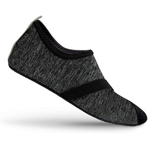 FitKicks Women's Foldable Active Lifestyle Footwear Shoes Large Black