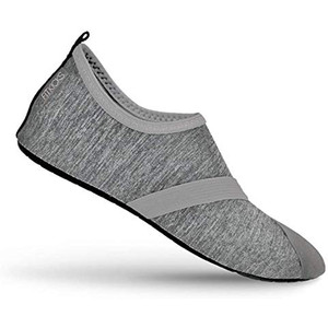 FitKicks Women's Foldable Active Lifestyle Footwear Shoes Medium Grey