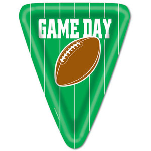 Game Day Football Triangular Shaped Plates