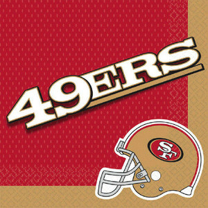 NFL San Francisco 49ers Lunch Napkins