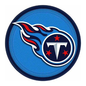 """9"""" Tennessee Titans Round Plates"""