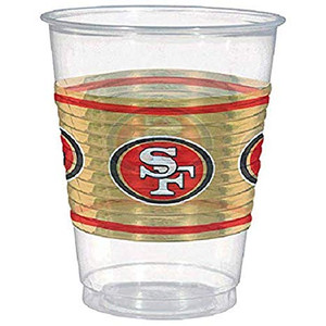 SAN FRANCISCO 49ERS CLEAR PLASTIC CUP
