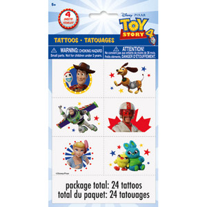 4 CT Toy Story IV Tattoo Sheets