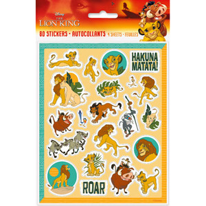 4 CT Lion King Sticker Sheets