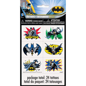 4 CT  Batman Tattoo Sheets