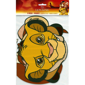 8 CT Lion King Party Masks