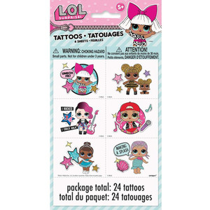 4 CT LOL Surprise! Tattoo Sheets