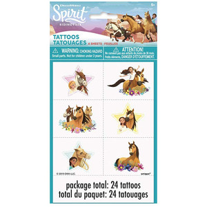 4 CT Spirit Riding Free Tattoo Sheets