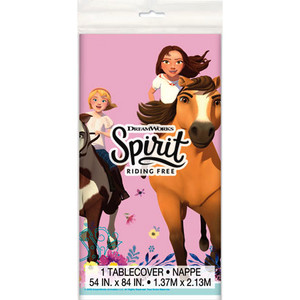 "1 CT Spirit Riding Free Plastic Tablecover 54"" x 84"""