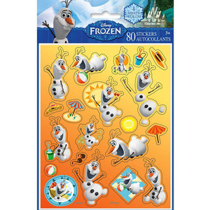 4 CT Olaf Sticker Sheets