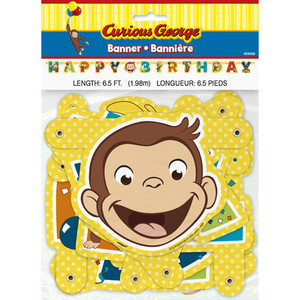 1 CT Curious George Jointed Banner