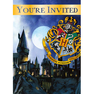 8 CT Harry Potter Invitations
