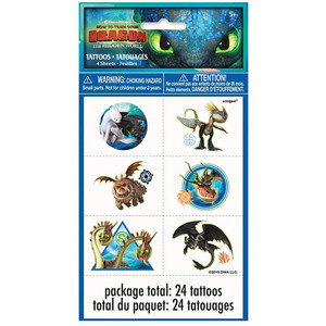 4 CT How To Train Your Dragon Tattoo Sheets