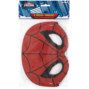 8 CT Spiderman Party Masks