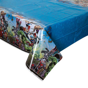 """1 CT Avengers Plastic Tablecover 54"""" x 84"""""""