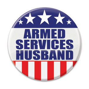 Armed Services Husband Button