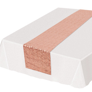 Rose Gold Sequined Table Runner