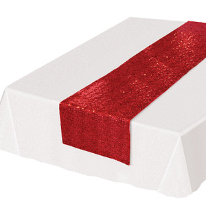 Red Sequined Table Runner