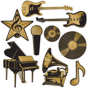 Foil Music Award Cutouts