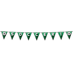 Soccer!/Football Pennant Streamer