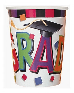 8 Grad Cap Graduation Cups