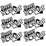 Black and Silver Happy New Year Eyeglasses-6 Pieces