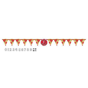 Pizza Party Jumbo Letter Banner