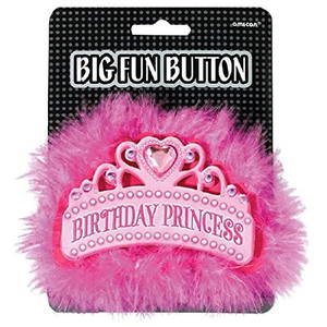 Birthday Princess Big Fun Button