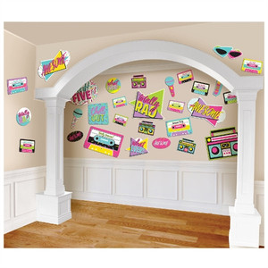 Awesome Party 80's Cutouts Mega Value Pack