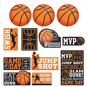 Basketball 'Nothin' But Net' Cutouts Value Pack
