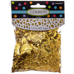 Gold Sparkle Foil Shred Confetti 1.5 Oz