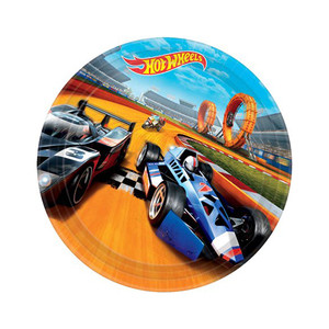 "9"" Hot Wheels Wild Racer Round Plates"
