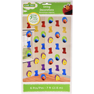 Elmo Turns One String Decoration Pack