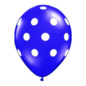 "16"" Big Polka Dots Latex Balloon - Purple"