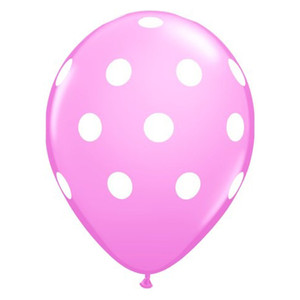 "16"" Big Polka Dots Latex Balloon - Pink"