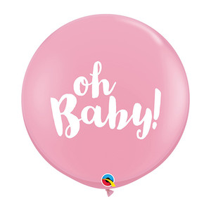 "36"" Oh Baby Latex Balloon- Pink"