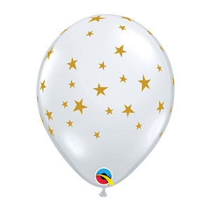"11"" Contempo Star Latex Balloon - Clear"