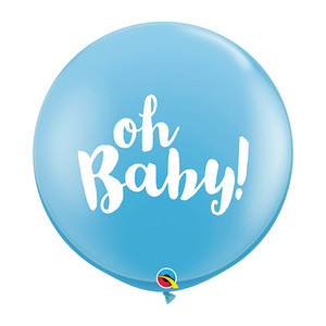 "36"" Oh Baby Latex Balloons- Pale Blue"