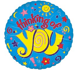 18 Inch Thinking Of You Mylar Balloon