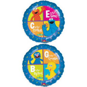 18 Inch Elmo and Cookie Monster Mylar Balloon
