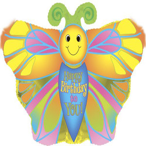Happy Birthday To U Butterfly Shape Balloon