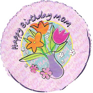 18 Inch Mom Happy Birthday Foil Balloon