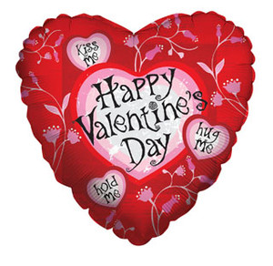 18 Inch Happy Valentine's Day Leaves Balloon