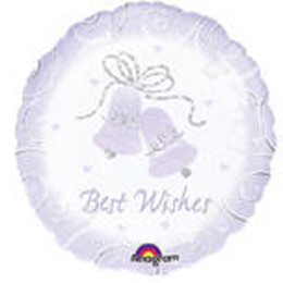 18 Inch Best Wishes Prismatic Balloon