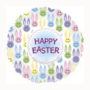 18 Inch Happy Easter Multi Bunnies Balloon