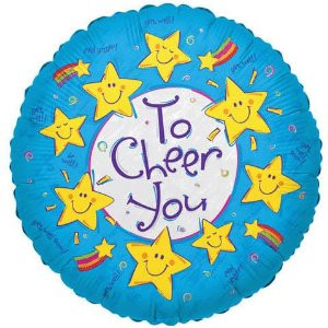 18 Inch Cheer You Smiley Stars Balloon