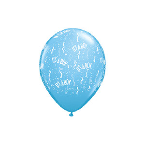 "11"" Qualatex It's A Boy Pale Blue - Latex Balloons"