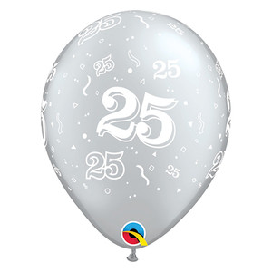 "11"" Qualatex 25-A-Round Latex Balloons"